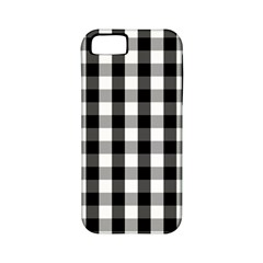 Large Black White Gingham Checked Square Pattern Apple iPhone 5 Classic Hardshell Case (PC+Silicone)