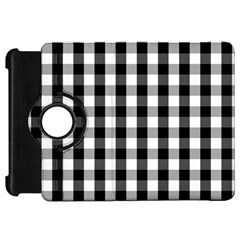 Large Black White Gingham Checked Square Pattern Kindle Fire HD 7