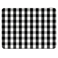 Large Black White Gingham Checked Square Pattern Samsung Galaxy Tab 7  P1000 Flip Case