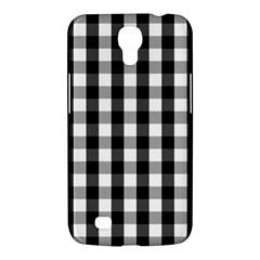 Large Black White Gingham Checked Square Pattern Samsung Galaxy Mega 6.3  I9200 Hardshell Case
