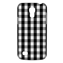 Large Black White Gingham Checked Square Pattern Galaxy S4 Mini