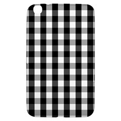 Large Black White Gingham Checked Square Pattern Samsung Galaxy Tab 3 (8 ) T3100 Hardshell Case