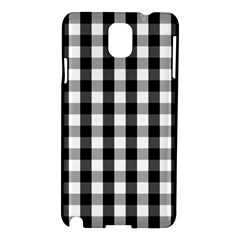 Large Black White Gingham Checked Square Pattern Samsung Galaxy Note 3 N9005 Hardshell Case