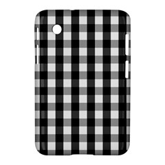 Large Black White Gingham Checked Square Pattern Samsung Galaxy Tab 2 (7 ) P3100 Hardshell Case