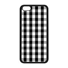 Large Black White Gingham Checked Square Pattern Apple iPhone 5C Seamless Case (Black)