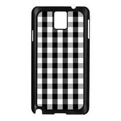 Large Black White Gingham Checked Square Pattern Samsung Galaxy Note 3 N9005 Case (Black)
