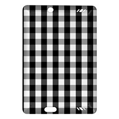 Large Black White Gingham Checked Square Pattern Amazon Kindle Fire HD (2013) Hardshell Case
