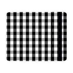 Large Black White Gingham Checked Square Pattern Samsung Galaxy Tab Pro 8.4  Flip Case