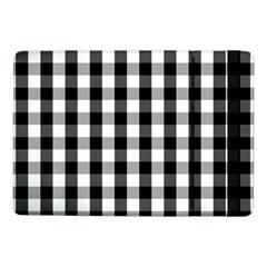 Large Black White Gingham Checked Square Pattern Samsung Galaxy Tab Pro 10.1  Flip Case