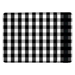 Large Black White Gingham Checked Square Pattern Samsung Galaxy Tab Pro 12.2  Flip Case