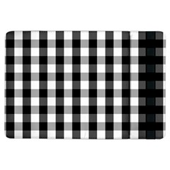 Large Black White Gingham Checked Square Pattern iPad Air Flip