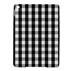 Large Black White Gingham Checked Square Pattern iPad Air 2 Hardshell Cases