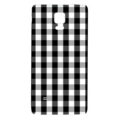 Large Black White Gingham Checked Square Pattern Galaxy Note 4 Back Case