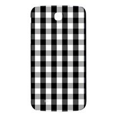 Large Black White Gingham Checked Square Pattern Samsung Galaxy Mega I9200 Hardshell Back Case