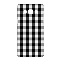 Large Black White Gingham Checked Square Pattern Samsung Galaxy A5 Hardshell Case
