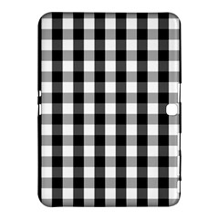 Large Black White Gingham Checked Square Pattern Samsung Galaxy Tab 4 (10.1 ) Hardshell Case