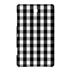 Large Black White Gingham Checked Square Pattern Samsung Galaxy Tab S (8.4 ) Hardshell Case