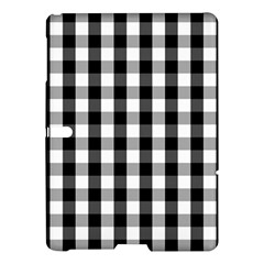 Large Black White Gingham Checked Square Pattern Samsung Galaxy Tab S (10.5 ) Hardshell Case