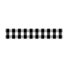 Large Black White Gingham Checked Square Pattern Flano Scarf (Mini)