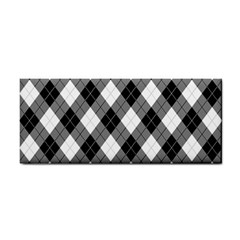 Argyll Diamond Weave Plaid Tartan in Black and White Pattern Cosmetic Storage Cases