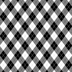 Argyll Diamond Weave Plaid Tartan in Black and White Pattern Magic Photo Cubes