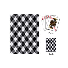 Argyll Diamond Weave Plaid Tartan in Black and White Pattern Playing Cards (Mini)