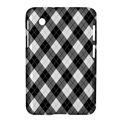 Argyll Diamond Weave Plaid Tartan in Black and White Pattern Samsung Galaxy Tab 2 (7 ) P3100 Hardshell Case