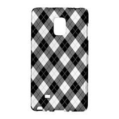 Argyll Diamond Weave Plaid Tartan in Black and White Pattern Galaxy Note Edge