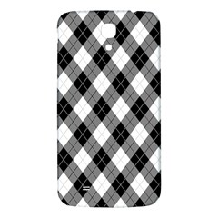 Argyll Diamond Weave Plaid Tartan in Black and White Pattern Samsung Galaxy Mega I9200 Hardshell Back Case