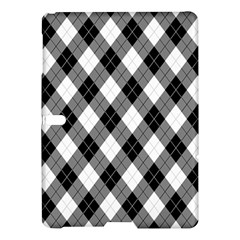 Argyll Diamond Weave Plaid Tartan in Black and White Pattern Samsung Galaxy Tab S (10.5 ) Hardshell Case