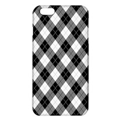 Argyll Diamond Weave Plaid Tartan in Black and White Pattern iPhone 6 Plus/6S Plus TPU Case