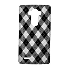 Argyll Diamond Weave Plaid Tartan in Black and White Pattern LG G4 Hardshell Case