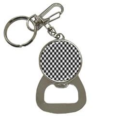 Argyll Diamond Weave Plaid Tartan In Black And White Pattern Button Necklaces