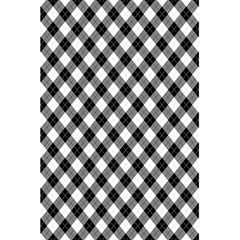 Argyll Diamond Weave Plaid Tartan In Black And White Pattern 5.5  x 8.5  Notebooks