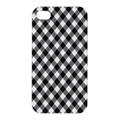 Argyll Diamond Weave Plaid Tartan In Black And White Pattern Apple iPhone 4/4S Hardshell Case