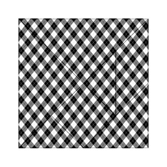 Argyll Diamond Weave Plaid Tartan In Black And White Pattern Acrylic Tangram Puzzle (6  x 6 )