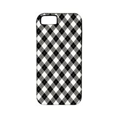 Argyll Diamond Weave Plaid Tartan In Black And White Pattern Apple iPhone 5 Classic Hardshell Case (PC+Silicone)