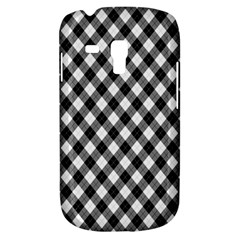 Argyll Diamond Weave Plaid Tartan In Black And White Pattern Galaxy S3 Mini