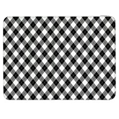 Argyll Diamond Weave Plaid Tartan In Black And White Pattern Samsung Galaxy Tab 7  P1000 Flip Case