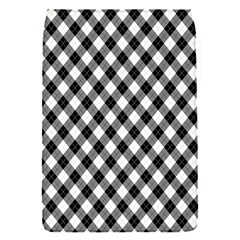 Argyll Diamond Weave Plaid Tartan In Black And White Pattern Flap Covers (S)