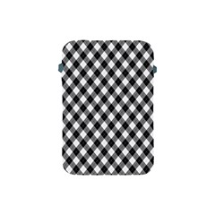 Argyll Diamond Weave Plaid Tartan In Black And White Pattern Apple iPad Mini Protective Soft Cases