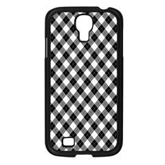Argyll Diamond Weave Plaid Tartan In Black And White Pattern Samsung Galaxy S4 I9500/ I9505 Case (Black)