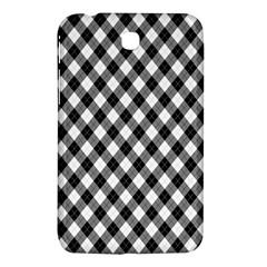 Argyll Diamond Weave Plaid Tartan In Black And White Pattern Samsung Galaxy Tab 3 (7 ) P3200 Hardshell Case