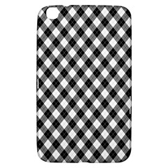 Argyll Diamond Weave Plaid Tartan In Black And White Pattern Samsung Galaxy Tab 3 (8 ) T3100 Hardshell Case