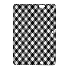 Argyll Diamond Weave Plaid Tartan In Black And White Pattern Kindle Fire Hdx 8 9  Hardshell Case