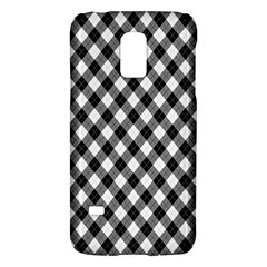 Argyll Diamond Weave Plaid Tartan In Black And White Pattern Galaxy S5 Mini