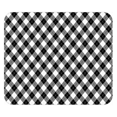 Argyll Diamond Weave Plaid Tartan In Black And White Pattern Double Sided Flano Blanket (Small)
