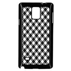 Argyll Diamond Weave Plaid Tartan In Black And White Pattern Samsung Galaxy Note 4 Case (Black)
