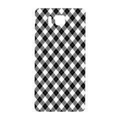 Argyll Diamond Weave Plaid Tartan In Black And White Pattern Samsung Galaxy Alpha Hardshell Back Case