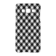 Argyll Diamond Weave Plaid Tartan In Black And White Pattern Samsung Galaxy A5 Hardshell Case